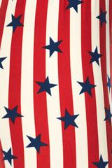 Vertical Stripes USA Flag Kids Leggings