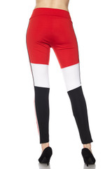 Sexy High Waisted Tri-Color Fashion Sport Leggings