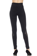 Cruiser Black Knee Mesh Faded Leggings