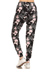 BrushedPink Butterfly Joggers