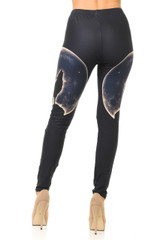 Creamy Soft Howl at the Moon Wolf Leggings