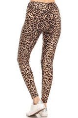 BrushedCheetah Print High Waisted Leggings
