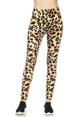BrushedDesert Leopard Plus Size Leggings - 3X-5X