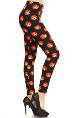 BrushedBasketball Plus Size Leggings - 3X-5X