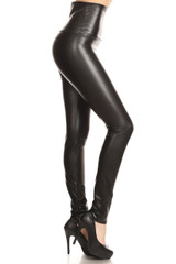 Premium High Waisted Matte Faux Leather Leggings