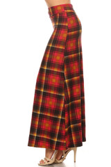 Sunset Plaid Maxi Skirt