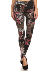 Front image of Brushed Berry Plume Leggings
