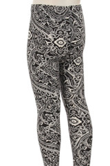 Brushed Ornate Paisley Kids Leggings