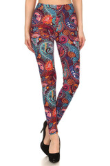 Brushed Candyland Paisley Leggings