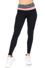 Pastel Band Sport Ready Workout Leggings