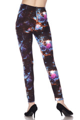 Brushed Dark Nebula Galaxy Plus Size Leggings