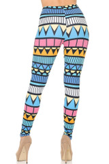 Back side  image of Double Soft Brushed Stonehenge Tribal Leggings
