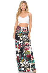 Soft Brushed Summer Picasso Maxi Skirt