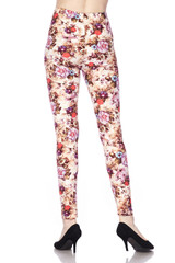 Soft Brushed Ginger Summer Floral Leggings
