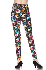 Soft Brushed Groovy Hip Unicorn Plus Size Leggings