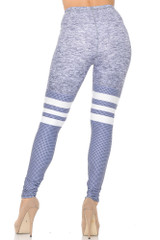 Creamy Soft Split Sport Light Heathered Extra Small Leggings - USA fashion™