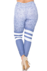 Creamy Soft Split Sport Light Heathered Plus Size Leggings - USA Fashion™