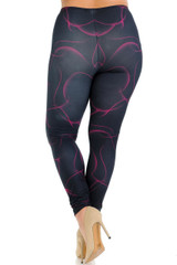 Creamy Soft Fuchsia Mist Plus Size Leggings - USA Fashion™