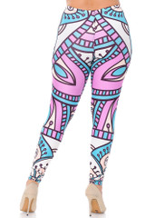 Creamy Soft Cute Mandala Extra Plus Size Leggings - 3X-5X - USA Fashion™