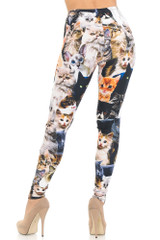 Creamy Soft Cat Collage Leggings - USA Fashion™