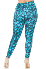 Creamy Soft Green Dragon Plus Size Leggings - USA Fashion™