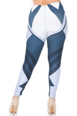 Creamy Soft Contour Angles Plus Size Leggings - USA Fashion™