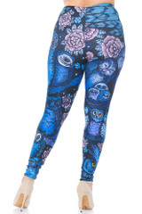 Creamy Soft Blue Owl Collage Extra Plus Size Leggings - 3X-5X - USA Fashion™