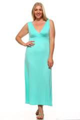 Surplice Neckline Twisted Strap Plus Size Maxi Dress