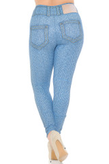 Creamy Soft Beautiful Blue Jean Plus Size Leggings - USA Fashion™