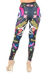 Creamy Soft Day of the Dead Leggings - USA Fashion™
