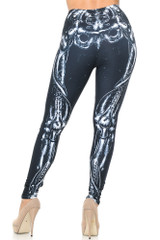 Creamy Soft Black Bio Mechanical Skeleton Leggings (Steam Punk) - USA Fashion™