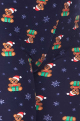 Brushed Christmas Teddy Bears Leggings