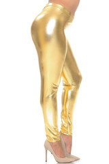 Shiny Metallic Plus Size Leggings