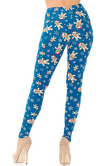 Brushed Cutie Pie Reindeer Leggings