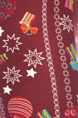 Brushed Burgundy Christmas Ornaments Kids Leggings