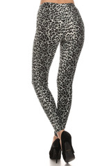 Brushed  Snow Leopard Leggings