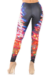 Electric Christmas Tree Leggings - Plus Size