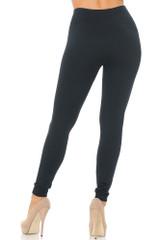 Women's Fleece Lined Leggings - Black Burgundy - 2 Pack