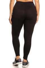 Buttery Soft Sport Basic Plus Size Leggings with Side Pockets
