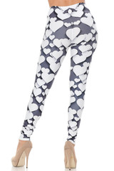 Creamy Soft 3D Hearts Leggings