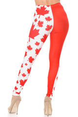 Creamy Soft Canadian Flag Plus Size Leggings