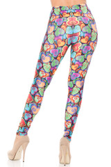 Creamy Soft Venetian Hearts Extra Plus Size Leggings - 3X-5X