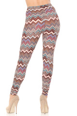 Brushed  Earthen Chevron Plus Size Leggings