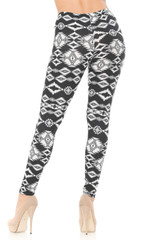 Brushed  Midnight Solstice Tribal Plus Size Leggings