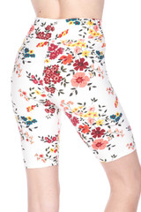 Brushed  Fresh Spring Floral Plus Size Shorts