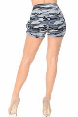 Brushed  Monochrome Camouflage Shorts