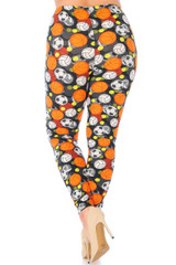 Brushed  Sports Ball Extra Plus Size Leggings - 3X-5X