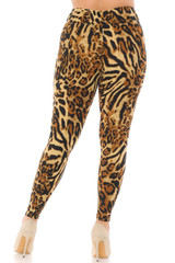 Brushed  Predator Leopard High Waisted Plus Size Leggings