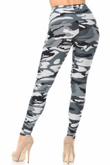Brushed  Charcoal Camouflage Leggings