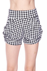 Buttery Soft Houndstooth Harem Shorts